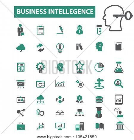 business intelligence, analytics, competitor icons