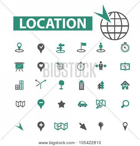 location, navigation, map icons