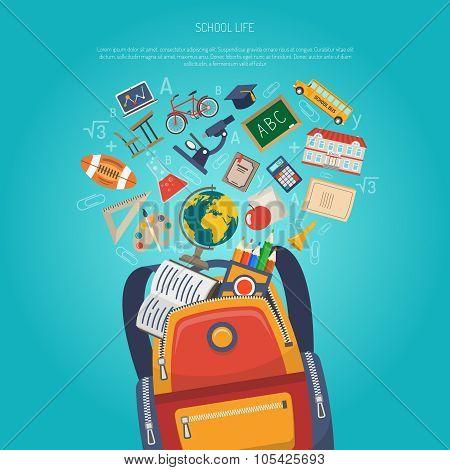 Education Concept Flat