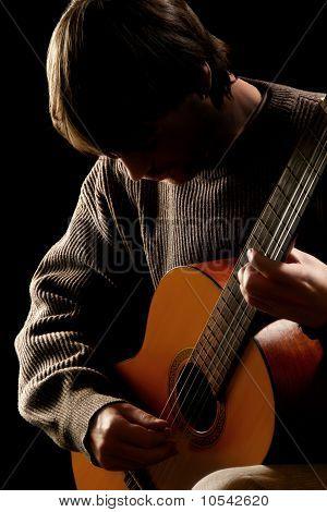 Guitarist. Guitar Playing