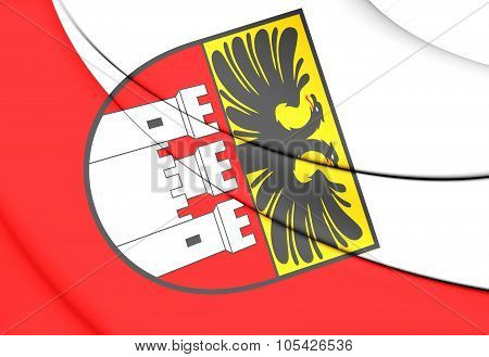 Flag Of Duisburg (north Rhine-westphalia), Germany.