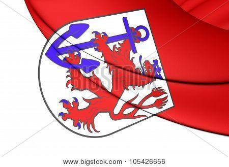 Flag Of Dusseldorf (north Rhine-westphalia), Germany.