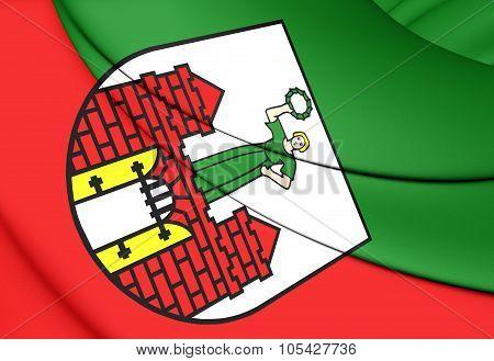 Flag Of Magdeburg (saxony-anhalt), Germany.