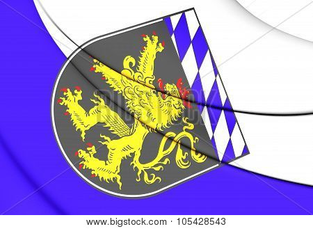 Flag Of Upper Bavaria Region, Germany.