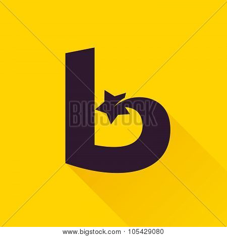 B Letter With Star.