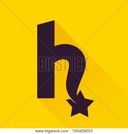H Letter With Star.