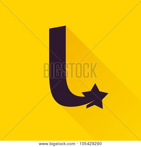 L Letter With Star.