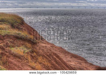 red soil of Prince Edward Island, bridge