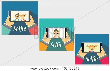 Taking A Selfie Picture. Cellphone In The Hands. Youth