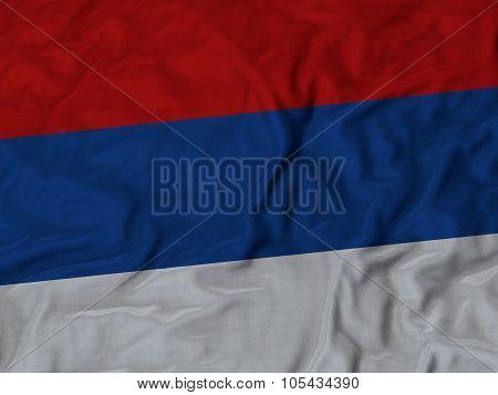 Closeup of ruffled Republika Srpska flag