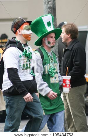 Participants On Saint Patricks Day Parade
