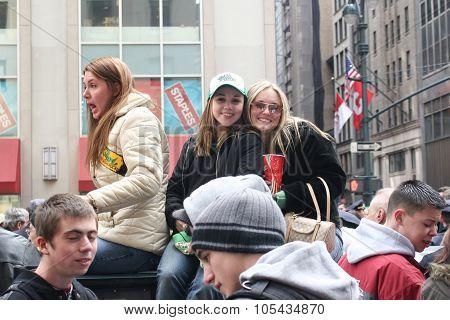 People On Saint Patricks Day Parade