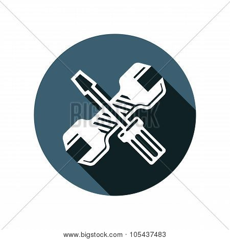 Screwdriver And Wrench Detailed Illustration, Professional Work Tools. Repair Theme Vector 3D Symbol