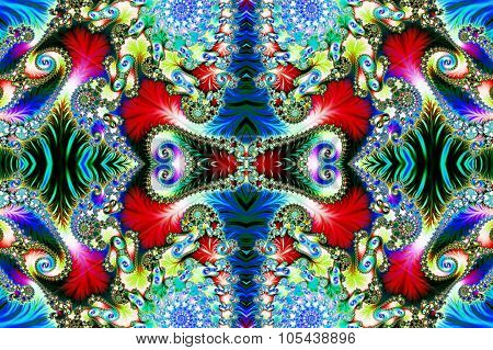 Multicolored Background With Spiral Pattern. Collection - Oriental Tales. Artwork For Creative Desig