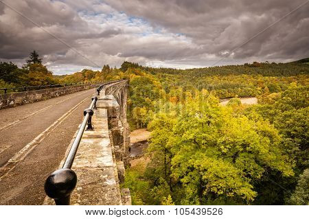 Lambley Viaduct In Autumn