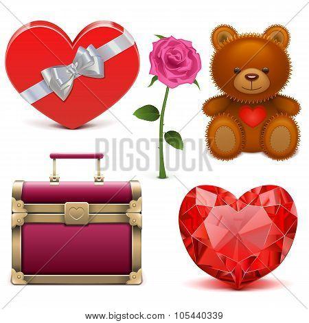 Vector Romantic Icons