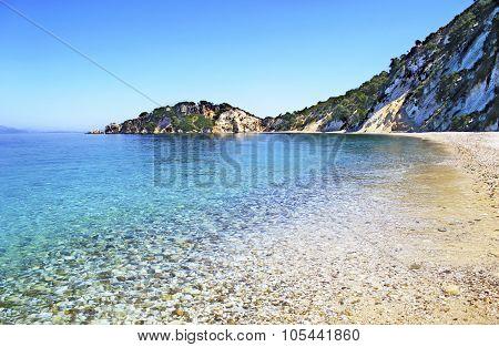 Gidaki beach in Ithaca Greece