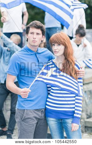Couple On Anti Government Protest