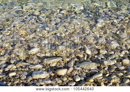 Shingle Beach In Greece
