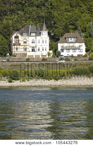 Dattenberg (germany) - Some Houses At The Rhine River