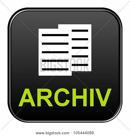 Black Button Showing Archive German