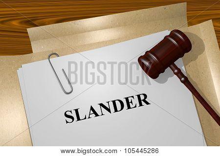 Slander Concept