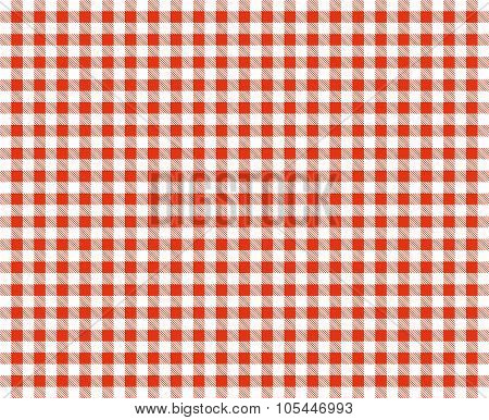 Retro Tablecloth Red And White