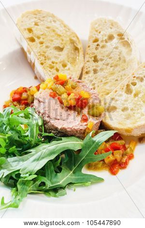 liver pate with bread