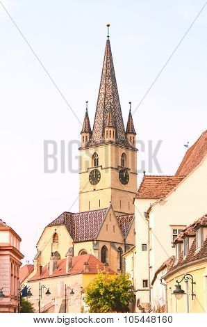 Medieval clock tower, Sibiu, Romania