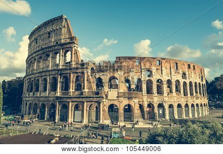 Rome, Italy - 18 November 2014: view on the great Coliseum