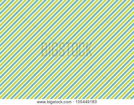 Background With Diagonal Stripes: Green, Blue, White