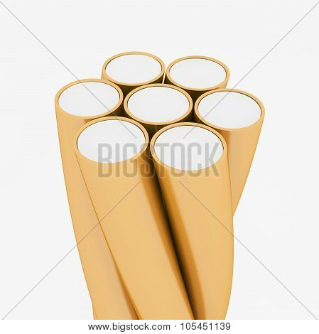 Electric Wire Cable With Clipping Path.