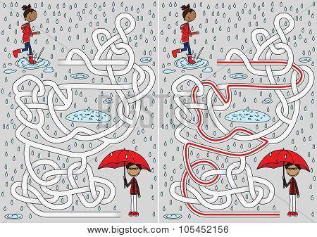 Rainy Day Maze