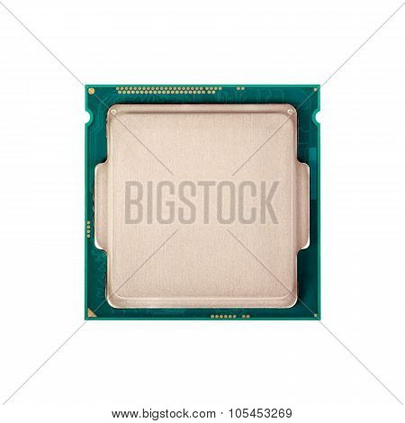 Electronic Collection - Modern Cpu Isolated On White Background