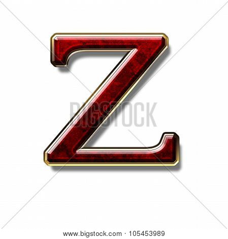 Letter Z - Precious Stone Is Red