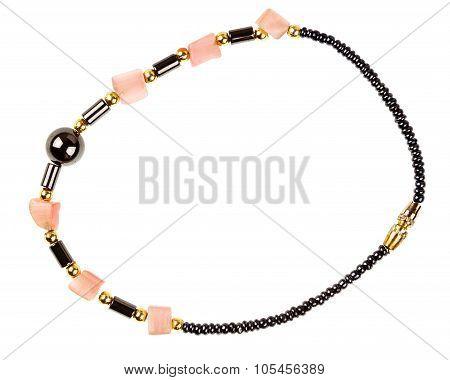 Vintage Beads And Stone Bracelet