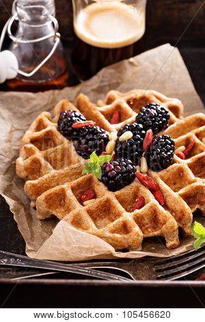 Whole wheat breakfast waffle