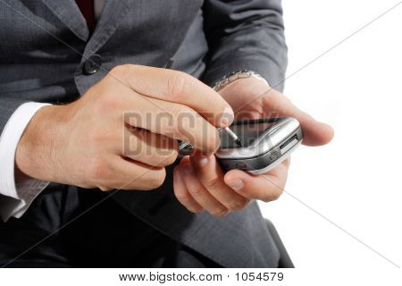 Businessman Using Pda