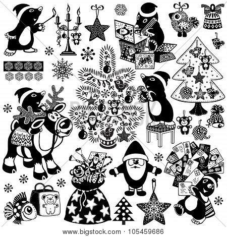 Christmas with mole set