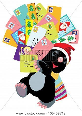 mole holding greeting cards