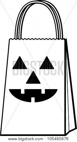 jack o' lantern bag