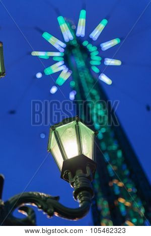 Street Lamp In The Funfair