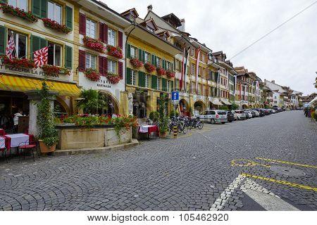 City Of Morat Also Called Murten, Main Street
