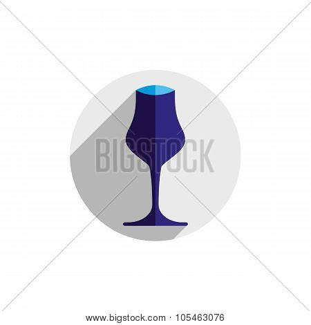 Winery Theme, Decorative Vector Wine Goblet. Wine Tasting Conceptual Symbol, Graphic Design Element