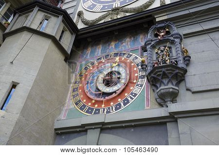 Medieval Astronomical Clock In Bern