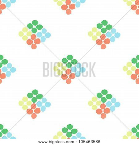 Seamless Pattern With Rhombus Of Circles On A White Background
