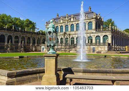 Pavilion Of Zwinger In Dresden, Germany