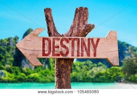 Destiny arrow with beach background