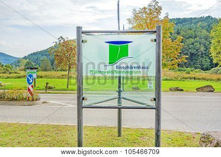 Biosphere House Pfaelzerwald / Nordvogesen Sign