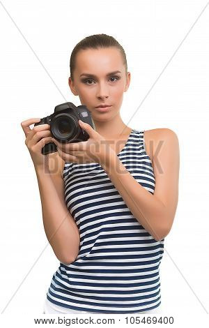 Cute girl with the camera.